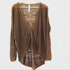 Free People New Romantics Knit Cardigan Sweater
